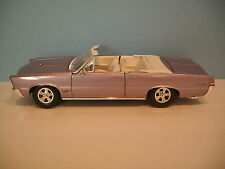 1:18 Scale Maisto PURPLE 1966 PONTIAC GTO CONVERTIBLE Die-cast