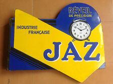Vintage Placa Anuncio Esmaltada JAZ Réveil de Précision - Plaque Advertisement