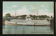 1907 Steamer City of Bangor Postcard - Bangor Maine