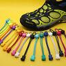 1 Paar elastische No-Tie Locking Schnürsenkel mit Schnallen für Sportschuhe