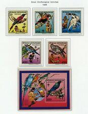 Cent African Rep Mnh 888-93 Boy Scouts Birds Zg804
