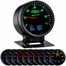 3 in 1 Black Boost w/ Digital Exhaust Temp and Temperature Gauge - GS-3G-01