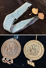 Lot Of 2 Medals one with ribbon Honi Soit Qui Mal Y Pense Order of the Garter