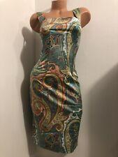 💰cyber Monday! Dolce & Gabbana dress print boning corset sz 40 Italy US 4