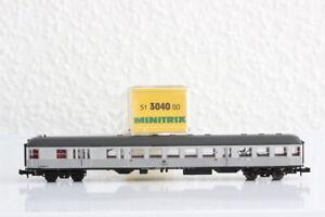 N MINITRIX 3040 DB 2.Kl Silberling Gepäckabteil Personenwagen coach OVP J55