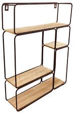 Unit Wood Shelf Display Storage Unit Bookcase Floating Shelving Rack Hanging
