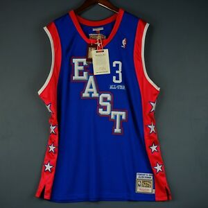 100% Authentic Allen Iverson Mitchell & Ness 04 All Star Jersey Size Mens 56 3XL