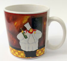 Al Dente Sakura Chef Coffee Mug White Coat Hat Bottle of Wine Funny Cooking Gift