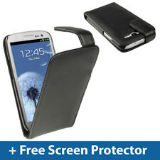 Black Leather Flip Case for Samsung Galaxy S3 III i9300 Android Cover Holder
