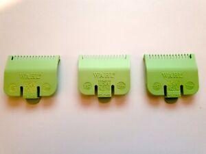 3 x Wahl Colour Clipper Attachment Guard Comb No 0.5 Lime Green 1.5 mm