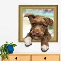 Wandtattoo Wandsticker Wandbild Haustiere Hund Welpe Kinderzimmer 3D #179