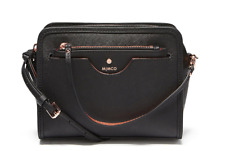 Authentic Mimco Phenomena Hip Hand Bag Saffiano Leather Handbag Black Crossbody
