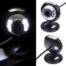 LED USB Night Vision Camera with Mic Desktop PC Laptop Webcam Skype Video Cam