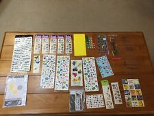 Large Lot Of Stickers Scrapbooking Sticker Lot Most New And Some Partially Used