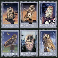Owls Birds Set of 6 MNH Stamps 2003 Romania #4579-84