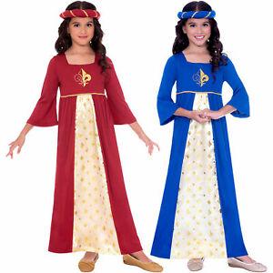 Girls Tudor Princess Costume Child Medieval Juliet Fancy Dress History Book Week