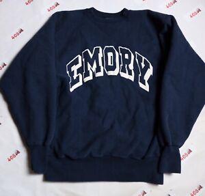 Vintage Champion Emory University Sweatshirt Men's Large Navy College VTG