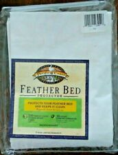 Pacific Coast Feather Bed Protector TWIN White Cotton 230 Thread Count Zippered
