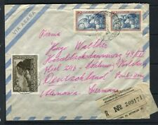 ARGENTINA;  1952 early LETTER/COVER Registered to Germany