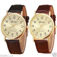 Fashion Women Men Watch Retro Leather Band Analog Alloy Quartz Wrist Watch