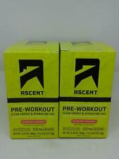 Ascent Pre-Workout Clean Energy & Hydration Fuel RaspberryLemonade x2 30 Serving