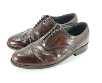 Florsheim Imperial Wingtip Oxford Shoes 93351 Sz 9 Burgundy Leather Full Brogue