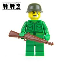 US Army WW2 minifigure Soldier made with real LEGO® M1 Garand Rifle