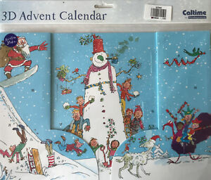 Quentin Blake Caltime 3D Advent Calendar 245mm X 350MM Snowman Father Christmas