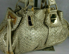 MICHEL KORS COLLECTION MADE IN ITALY GOLD SNAKESKIN 'REHEARSAL' WOMEN HAND BAG