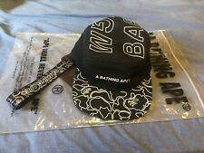 A Bathing Ape Bape Cap Black With Strap Brand New