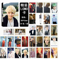 30pcs set Kpop BTS Bangtan Boys SUGA summer Photo Poster Lomo Cards PhotoCard