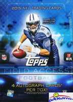 2015 Topps Field Access Football Factory Sealed HOBBY Box-FOUR (4) AUTOGRAPHS !!