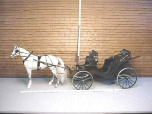Miniature Victorian Carriage B.Goldsberry, Breyer Horse G. Peterson Handcrafted