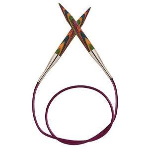 KnitPro Symfonie Wood Fixed Circular Knitting Needles 80cm (32 inches) length.