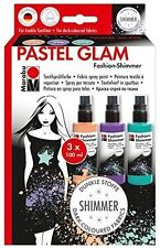 Marabu Fashion Shimmer SPRAY SET-Spray Peinture pour tissu T shirts Pastel Glam