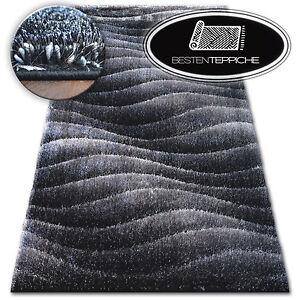 Angenehm zu berühren dunkelgrauen Teppich SHAGGY SPACE 3D modernes Design dick