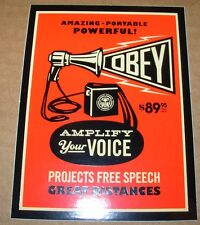 SHEPARD FAIREY Obey Giant Sticker 3 X 4 in AMPLIFY YOUR VOICE from poster print