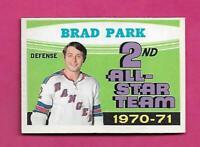 1971-72 OPC # 257 RANGERS BRAD PARK AS EX-MT CARD  (INV# D0067)