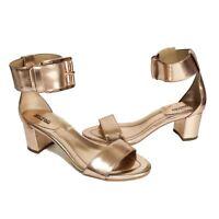 MICHAEL Michael Kors Calder Open-Toe City Sandal Rose Gold Size 6 & 6.5