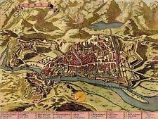 Le mappe Vintage Ivrea Town Plan MONTAGNE ITALIA ART PRINT MP5020A