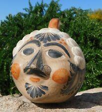 Vintage TONALA FACE Head BANK Painted Clay Primitive Mexican Folk Art