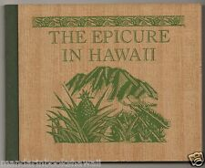 EPICURE IN HAWAII ~ Colt Press-San Francisco ~ Wood Veneer boards~Woodblock Art