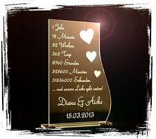 1 Aufsteller Spruch z.B. 1 Jahrestag Wunschtextgravur Geschenkidee Valentinstag