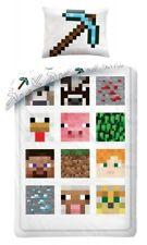 Minecraft Bettwäsche 135x200 80x80cm 100% Baumwolle Pixel Defeat