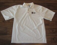 Ketel One Vodka Mens Short-Sleeve Polo Shirt, White, Pebble Beach, Size L, EUC