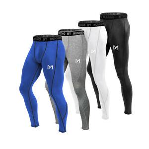 Herren Sport Leggings Kompressions Hose Jogginghose Trainingshose Funktionshose