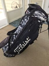 Titleist LIMITED EDITION Players 4+ Black/White/Gray Digital Camo Stand Bag