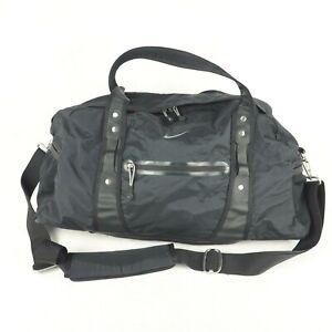 Nike Women's Duffel Bag Equipment Yoga Mat Overnight Gym Fitness Carryall Black