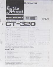 Pioneer CT-320 registratore a cassette Servizio di Riparazione Officina Manuale (copia originale)