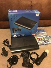 SONY PS3 Super Slim 500GB 3 BUNDLE + Controller, Eye, Move & 4 Games